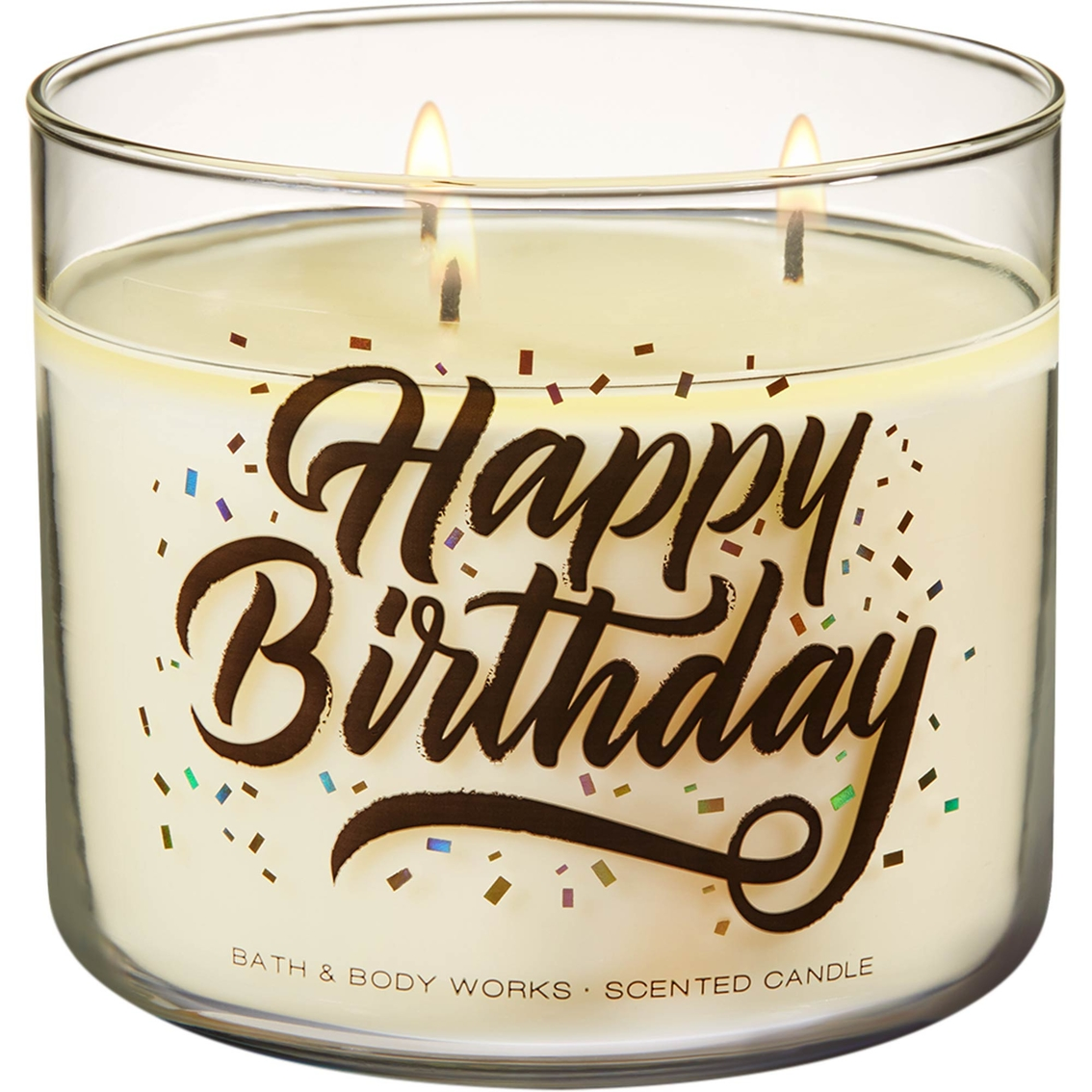 Bath Body Works Happy Birthday Vanilla Bean 3 Wick Candle