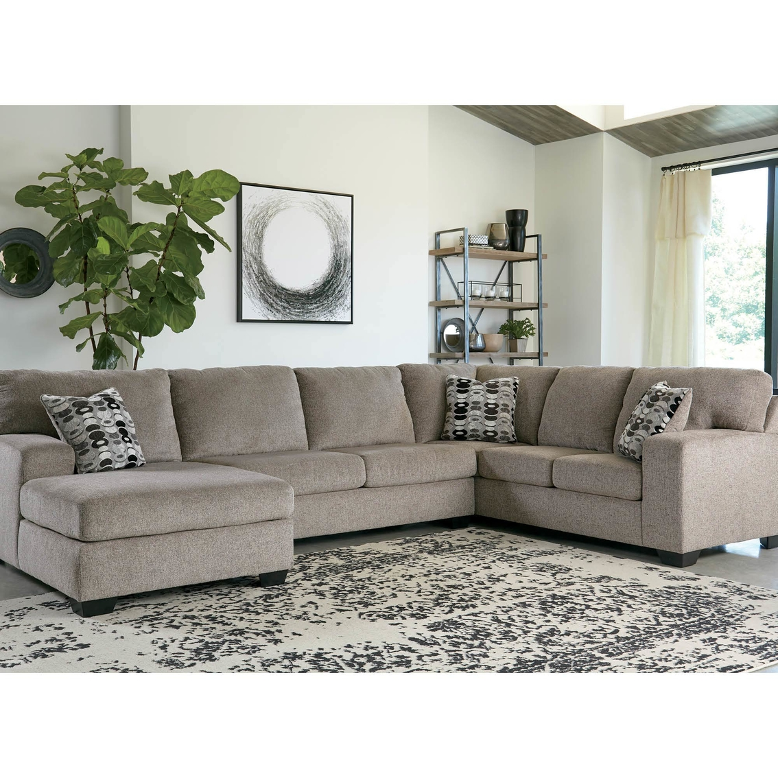 Signature Design By Ashley Ballinasloe 3 Pc. Sectional Laf ...