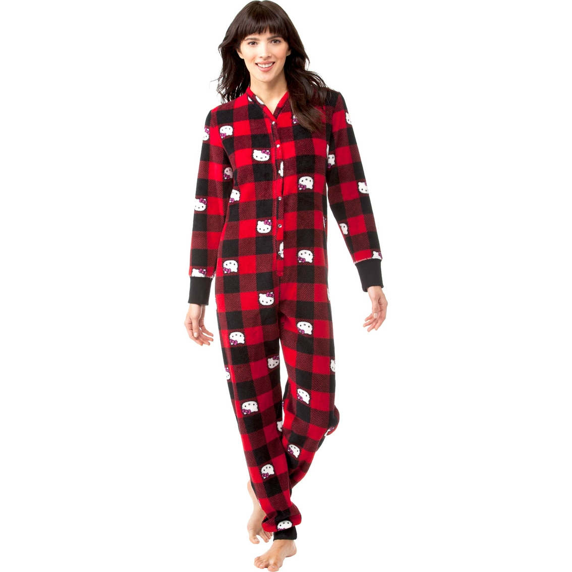 92d9a5499 Hello Kitty Plaid Plush Union Suit Sleepwear | Pajamas & Robes ...
