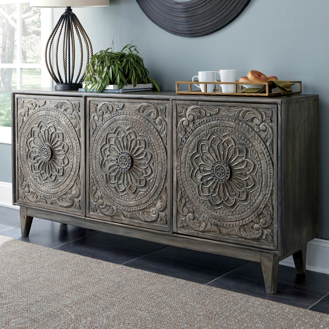 Signature Design By Ashley Fair Ridge Console Table Dining Storage