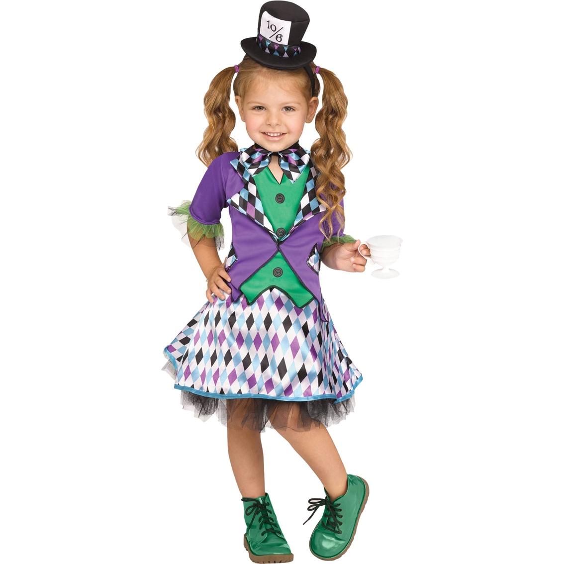 Fun World Little Girls Mad Hatter Costume, Small (4 6X)
