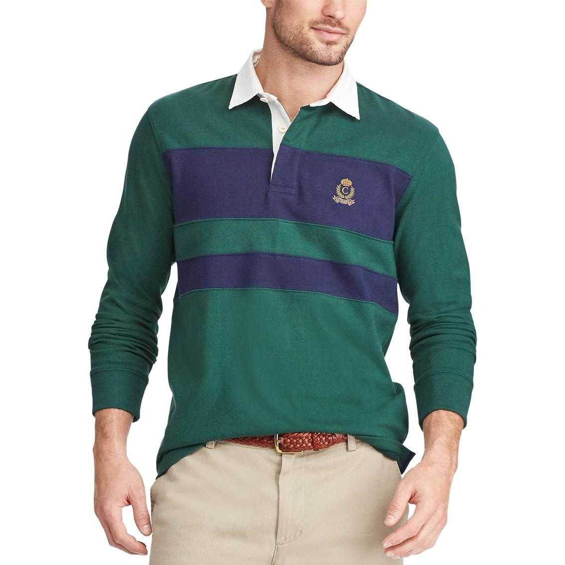 4e13583c424 Chaps Men's Stripe Rugby Shirt | Saturday - Wk 77 | Shop The Exchange
