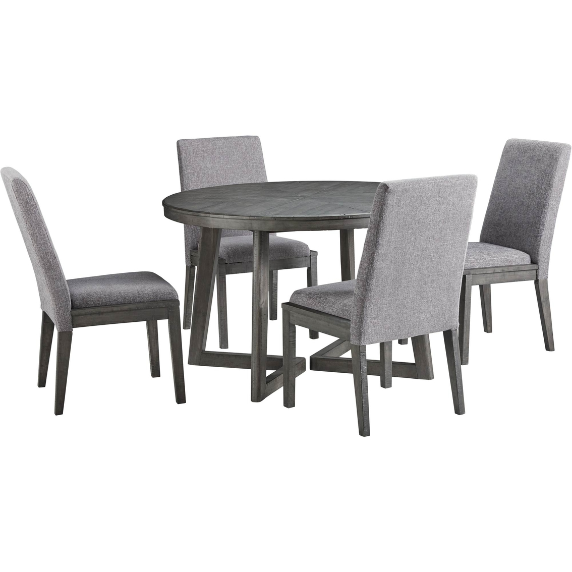 Round Dining Table With 4 Chairs: Signature Design By Ashley Besteneer Round Table With 4