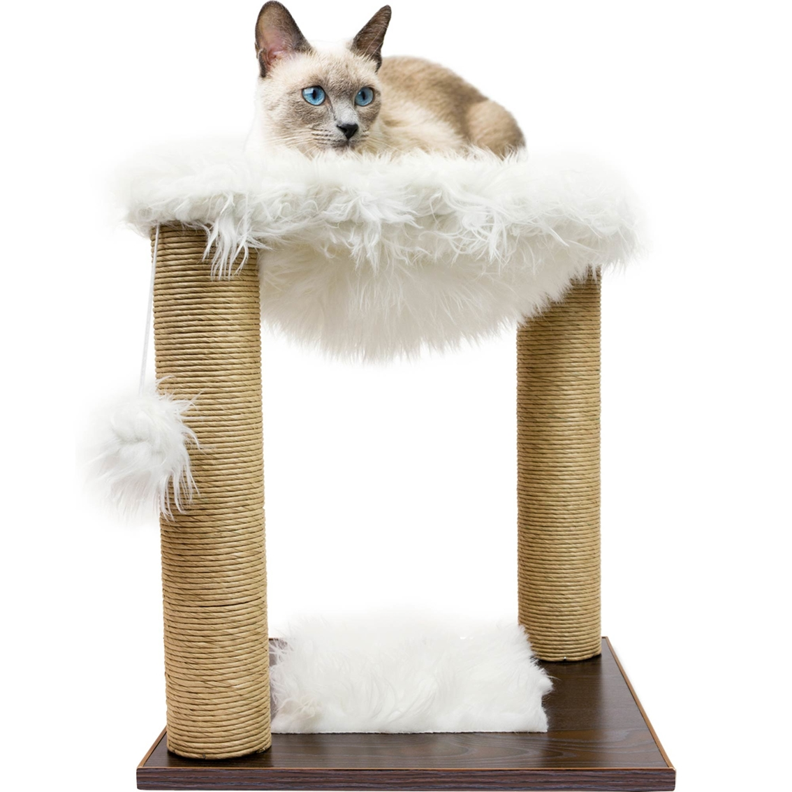 Precious Tails Home Base 20 In Cat Hammock And Scratching Post