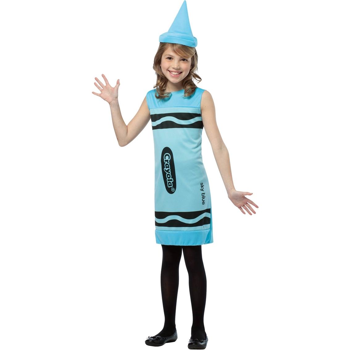 be8733f6ae59 Rasta Imposta Kids Crayola Sky Blue Tank Dress Costume Medium (7-10 ...