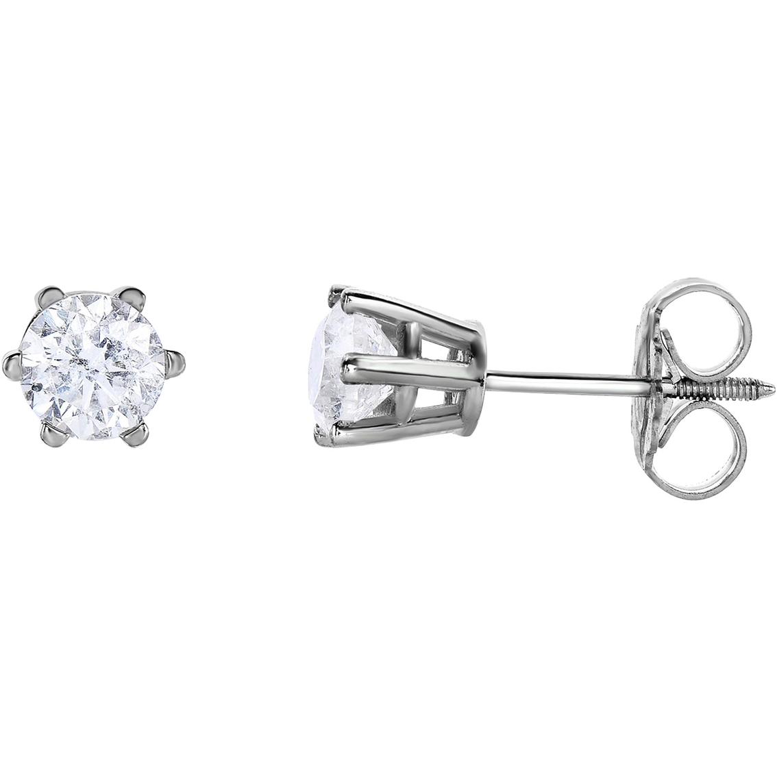 14k Gold 1 Ctw Diamond Stud Earrings