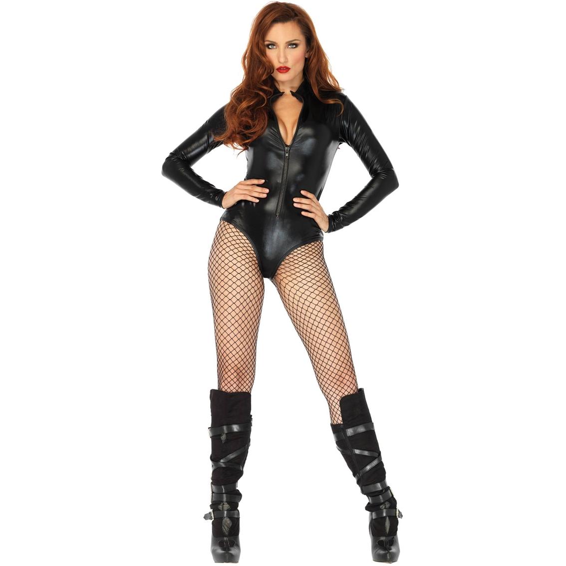 711b34d2441da Leg Avenue Women's Wet Look High Neck Bodysuit | Women's Costumes ...
