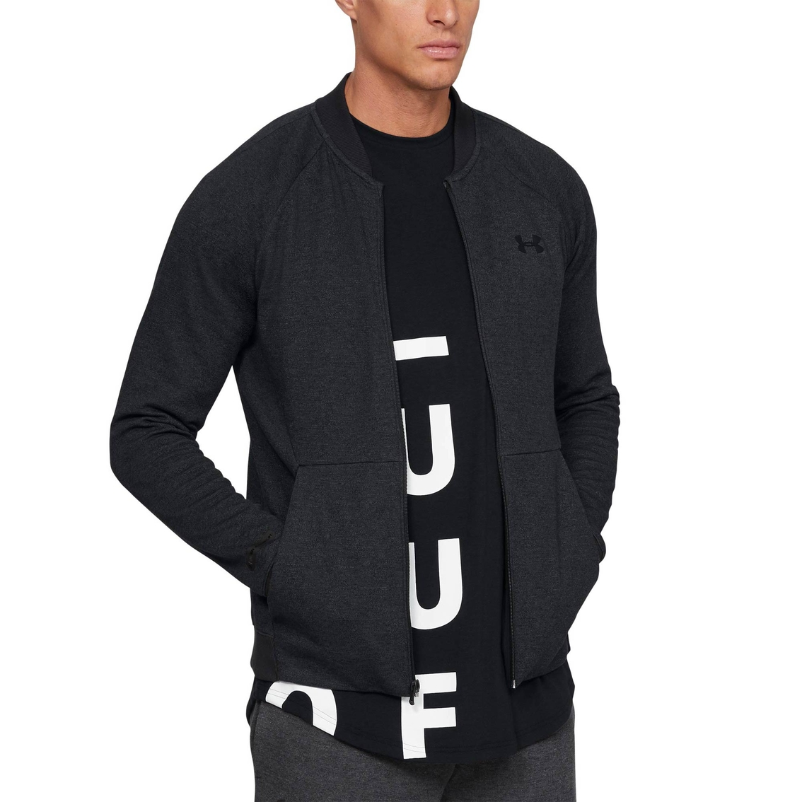 57d54235c11 Under Armour Unstoppable 2x Knit Bomber Warmup Top   Shirts ...