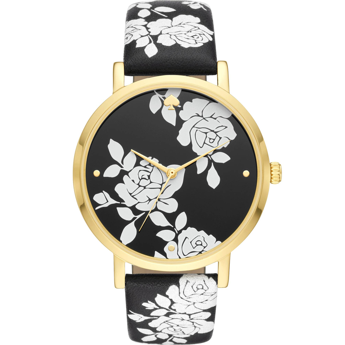 Kate Spade Women S Metro Three Hand Floral Leather Watch