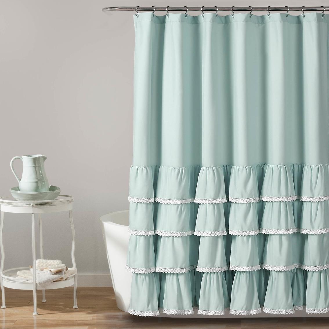 Lush Decor Ella Lace Ruffle 72 X In Single Shower Curtain