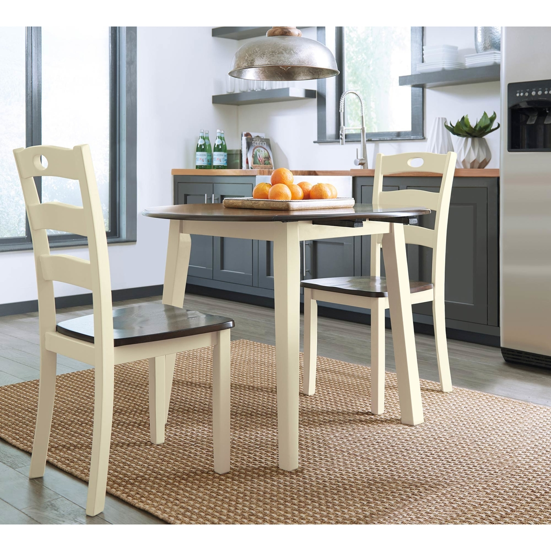 Ashley Woodanville Drop Leaf Table And Two Chairs Set