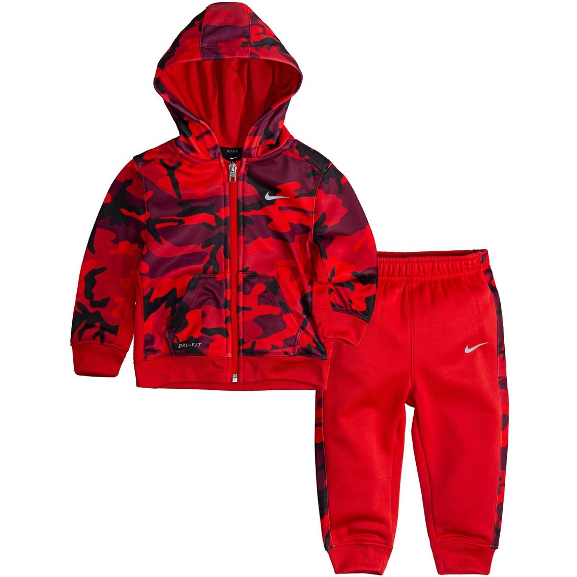 1b9afcdf4 Nike Infant Boys Camo Allover Print Full Zip Therma Set | Baby Boy 0 ...