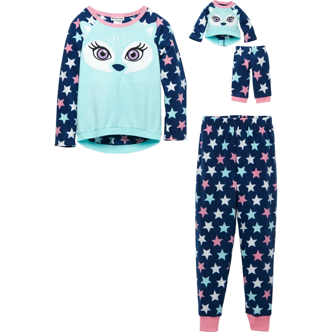 020e9861062c Komar Kids Llc Girls Fox 2 Pc. Pajama Set With Doll Pajamas