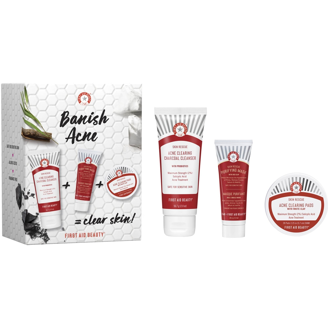 Health And Beauty Aids: First Aid Beauty Banish Acne Kit