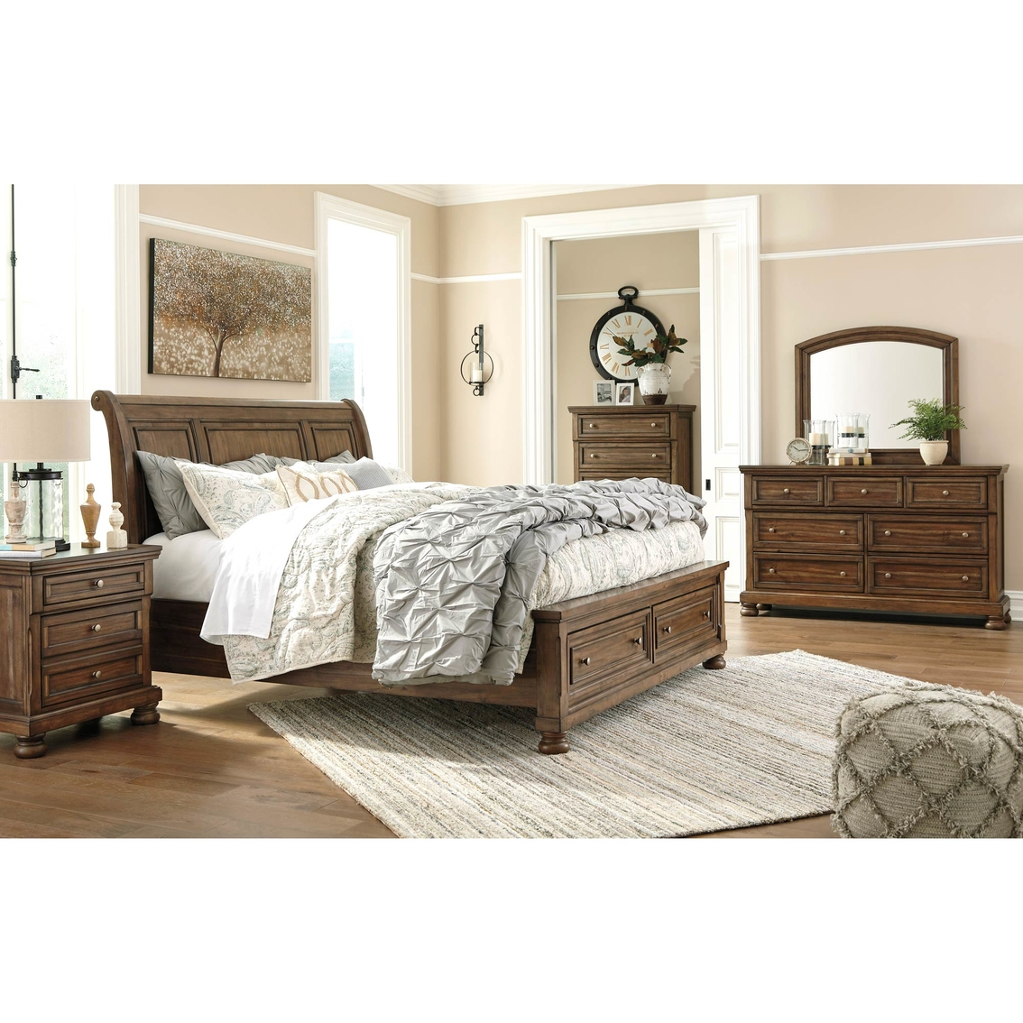 Signature Design By Ashley Flynnter 5 Pc. Storage Bed Set | Bedroom ...