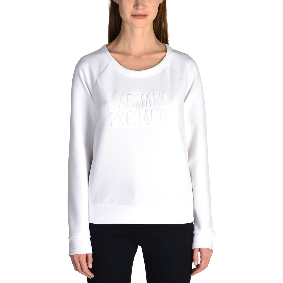 96d14f36696b4 Armani Exchange Tonal Logo Sweatshirt