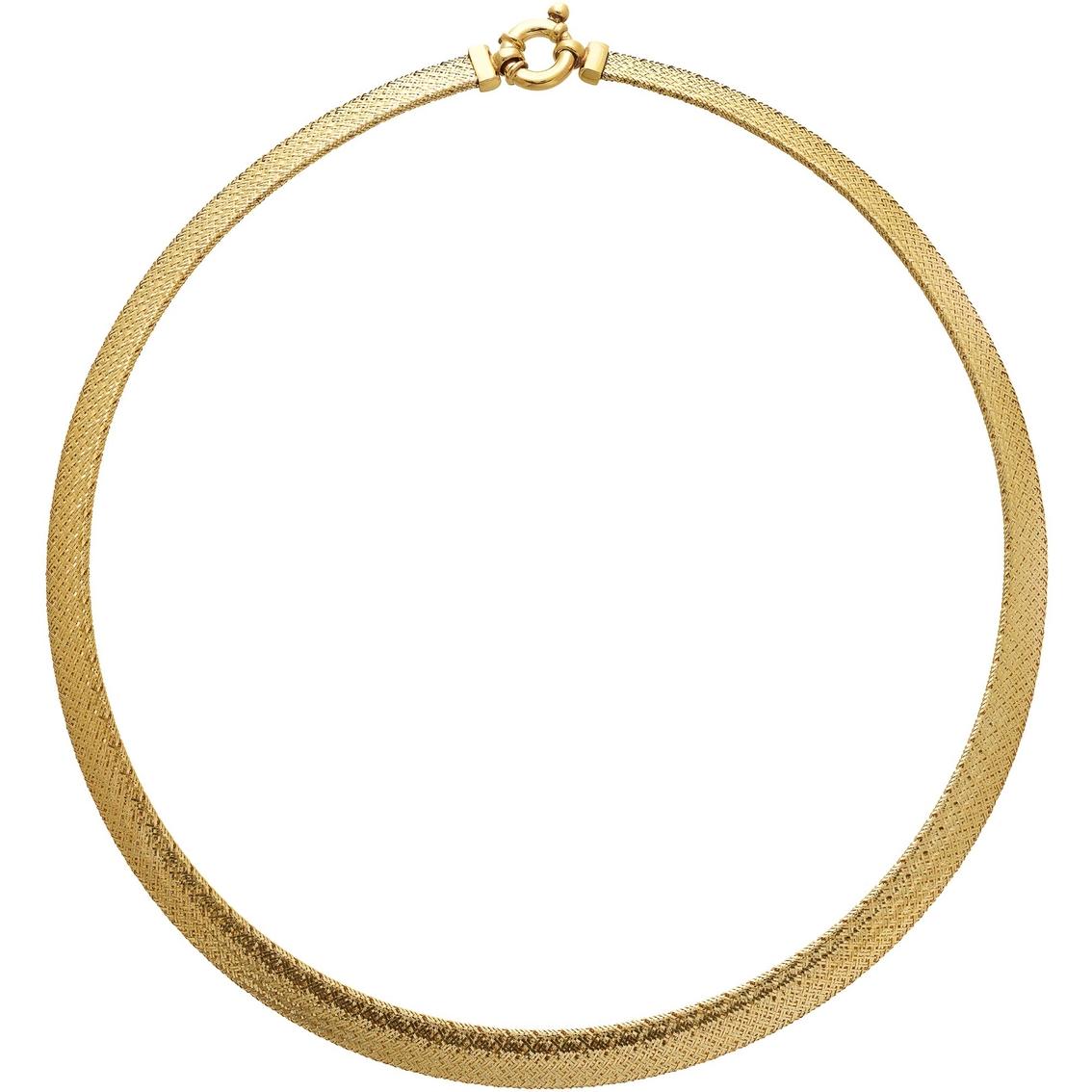 700333d0bd01d 14k Yellow Gold Dome Mesh Omega Necklace | Gold Necklaces & Pendants ...