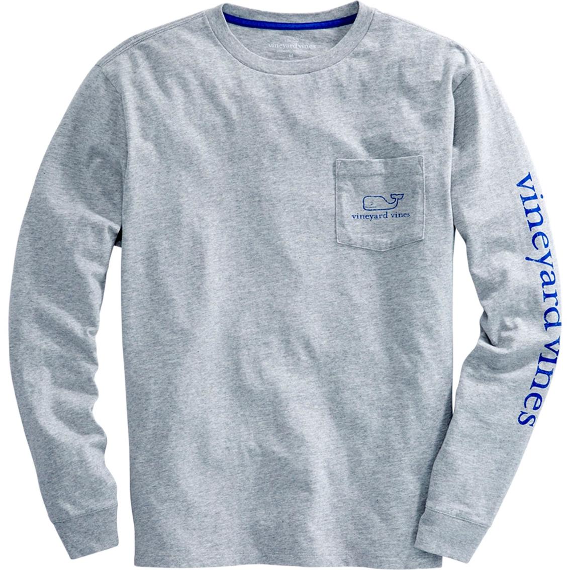 Vineyard Vines Boys L//S White Cap Tuna Back Hooded Pocket T-Shirt