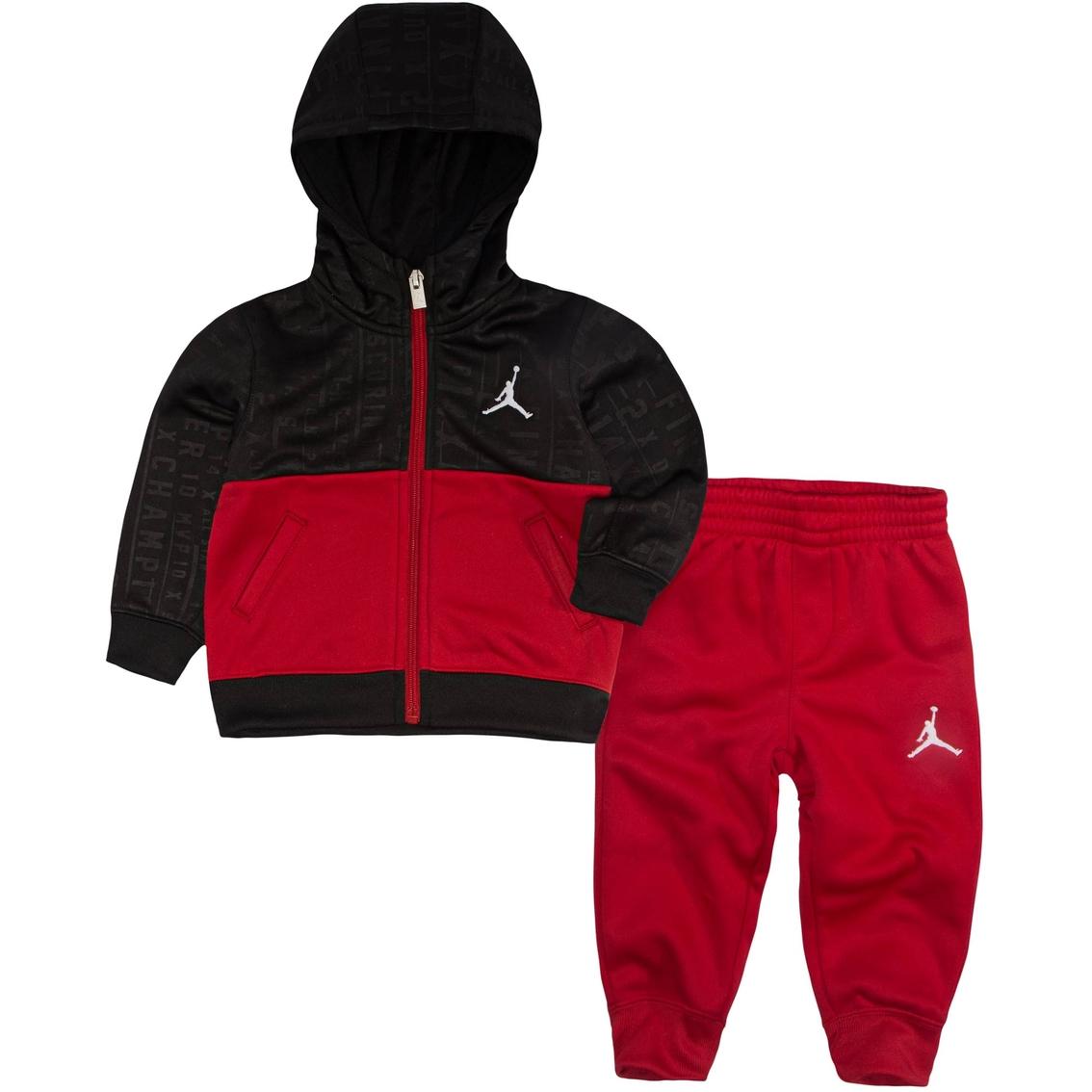 ab8a89054975 Jordan Toddler Boys 2 Pc. Vertical Aop Therma Fleece Hoodie And Pant ...
