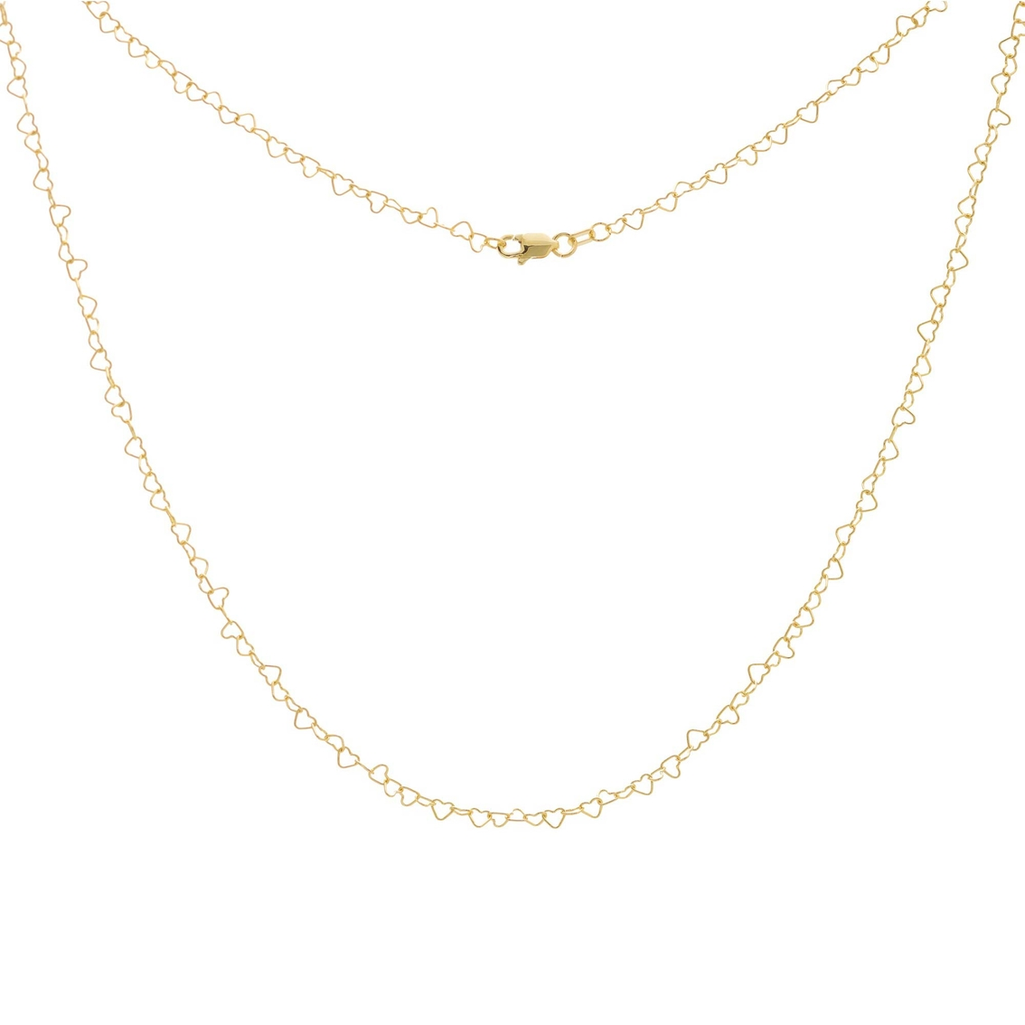 14K Yellow Gold Love Chain Necklace
