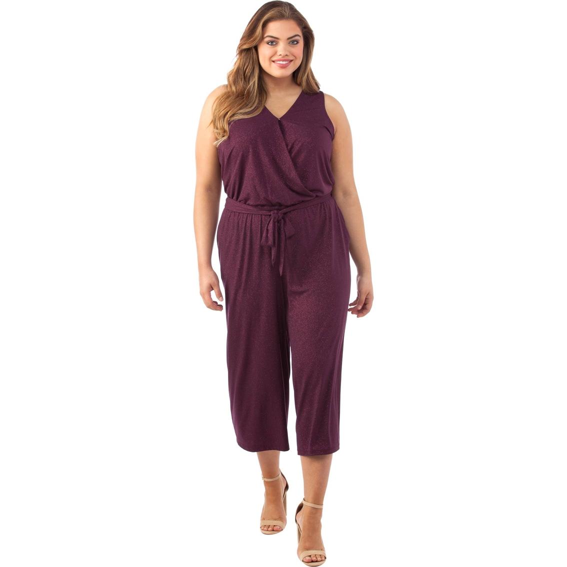 Michael Kors Plus Size Wrap Crop Jumpsuit | Dresses | Apparel | Shop ...
