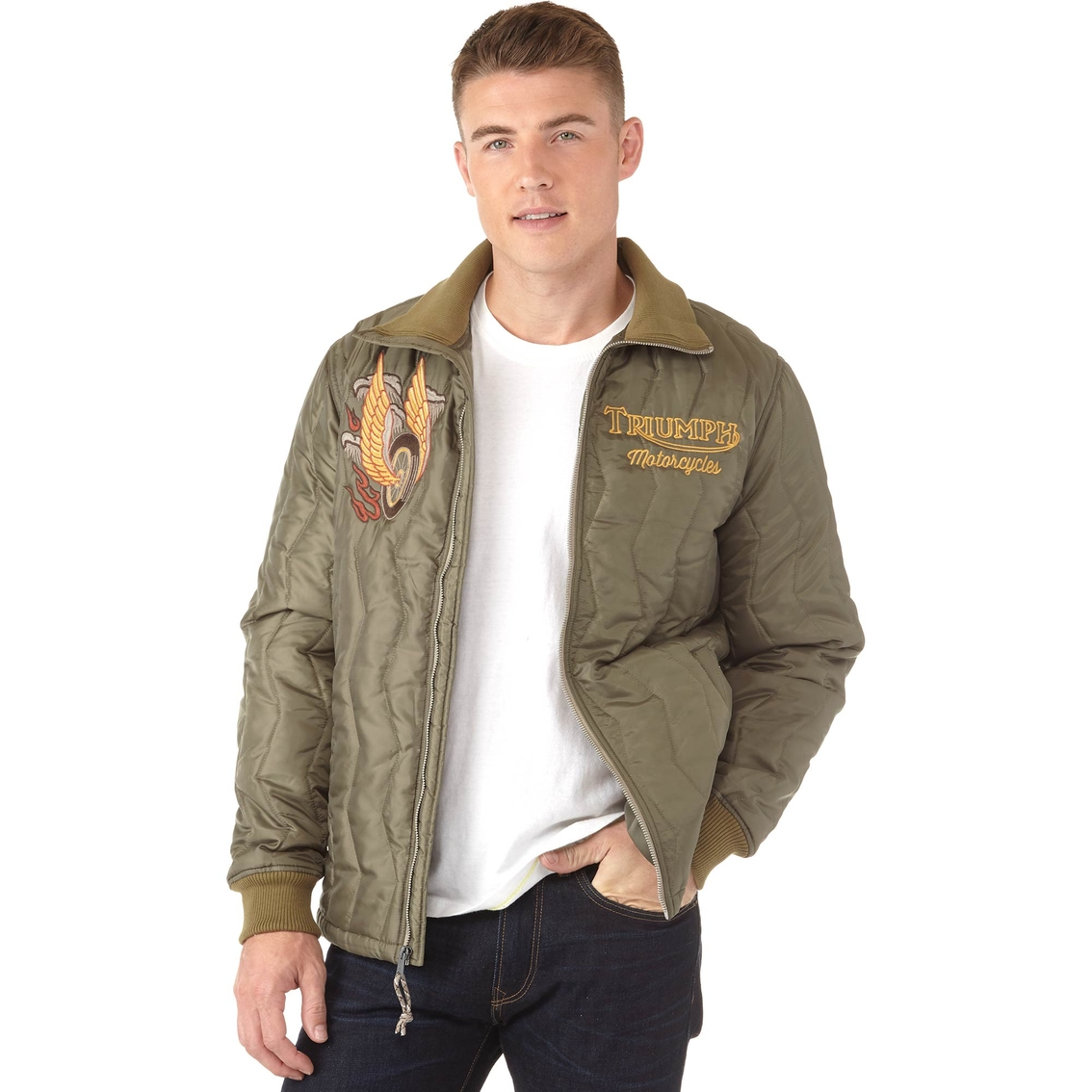 22c6bee1760 Lucky Brand Embroidered Triumph Tiger Jacket