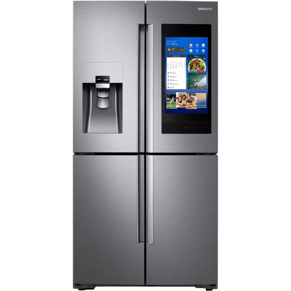 Counter Depth 4 Door Flex Touch Screen Family Hub Refrigerator