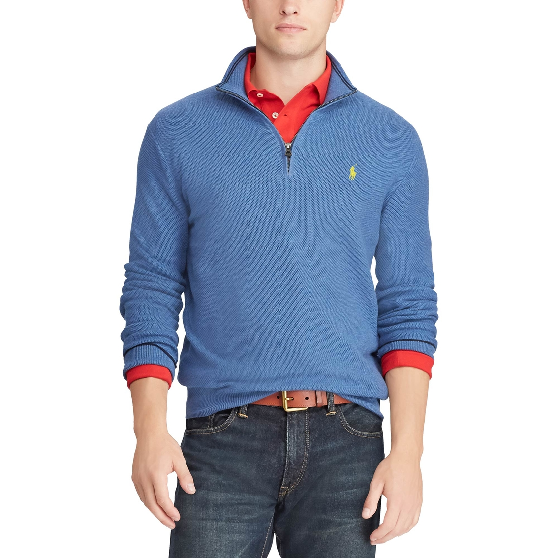 dcd81c82735f3 Polo Ralph Lauren Cotton Half-zip Sweater | Basketball | Back To ...