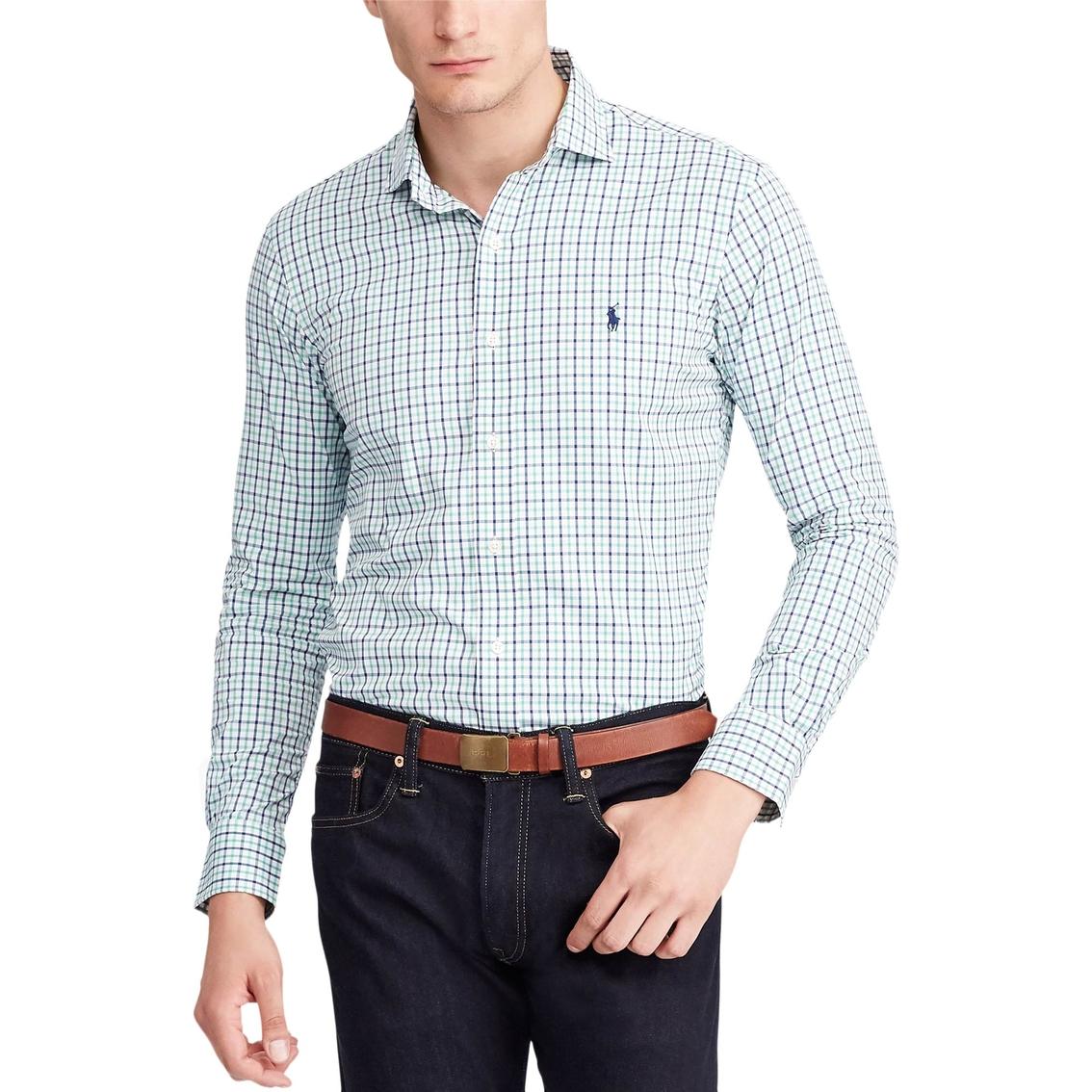 936c2269 Polo Ralph Lauren Classic Fit Plaid Performance Twill Shirt | Casual ...