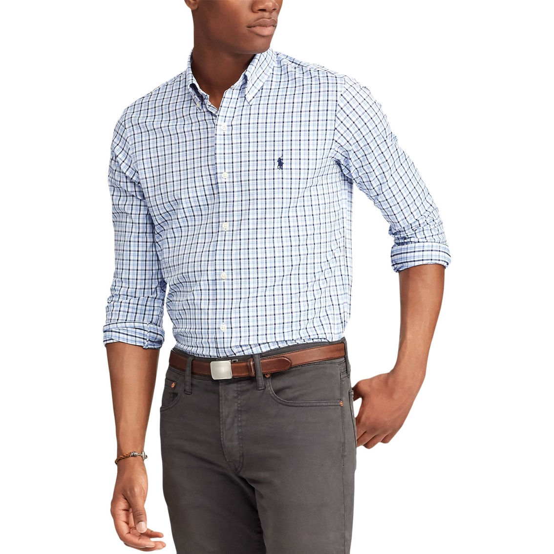500d802f0 Polo Ralph Lauren Classic Fit Plaid Performance Twill Shirt