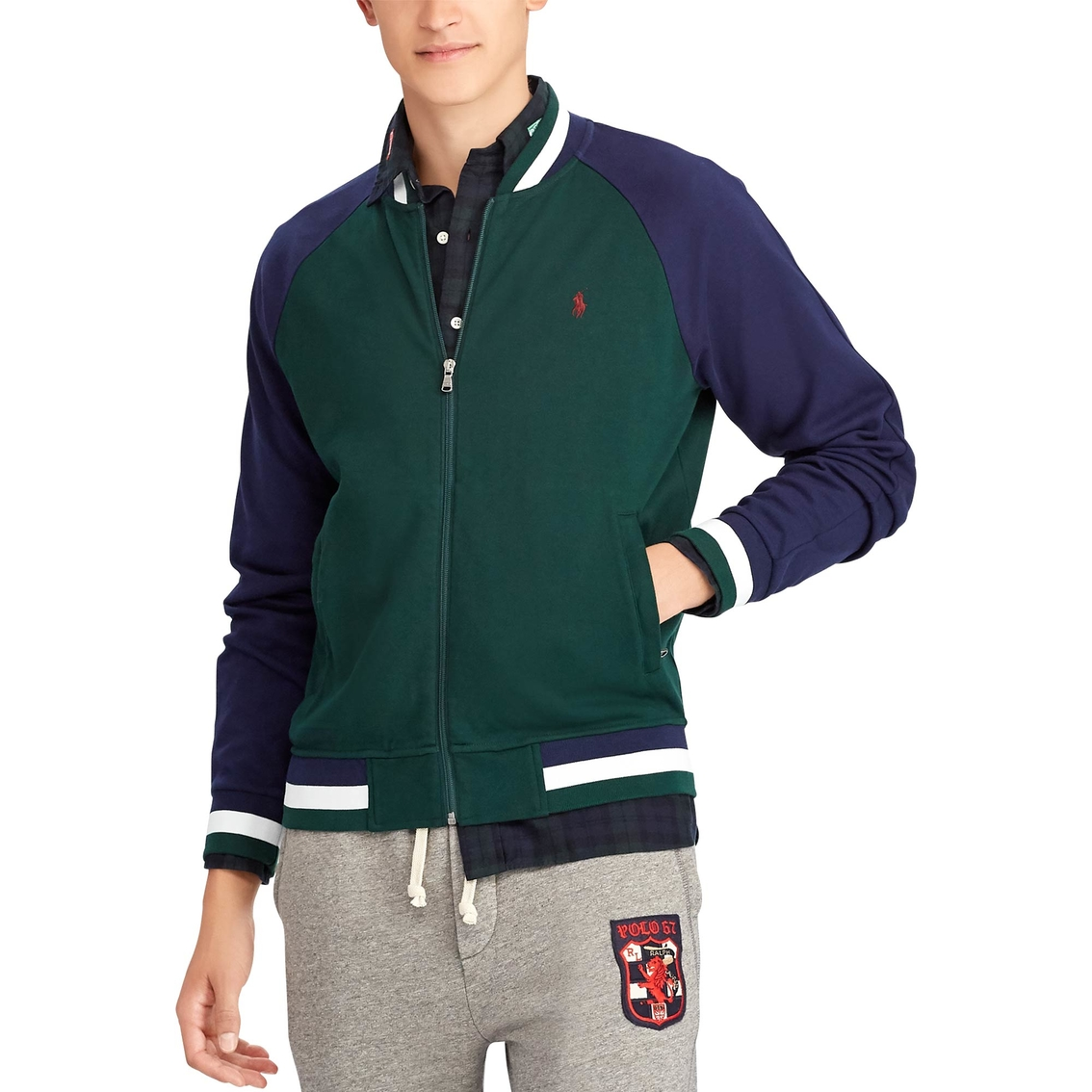 Polo Ralph Lauren Cotton Baseball Jacket   Hoodies   Jackets ... 83d1d910d37