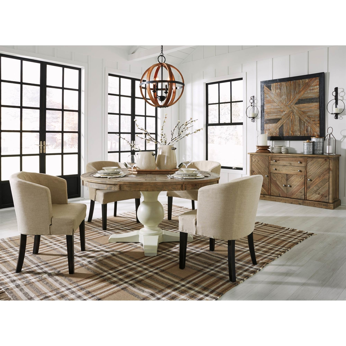 Grindleburg Dining Room Table Round: Signature Design By Ashley Grindleburg 5 Pc. Round Dining