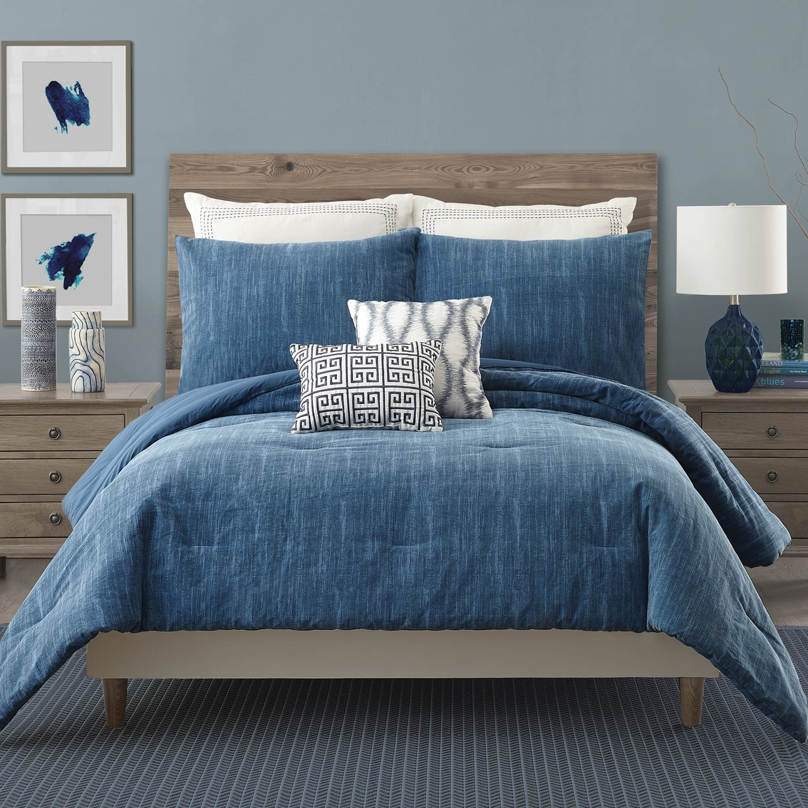 Ayesha Curry Rhapsody In Blue 3 Pc Comforter Set Bedding Sets Household Shop The Exchange