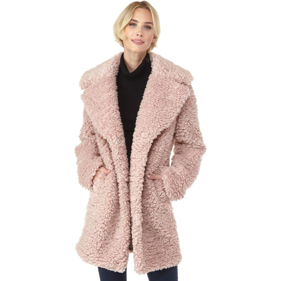 1536c809b79 Kensie Faux Fur Teddy Notch Collar Coat   Coats   Apparel   Shop The ...