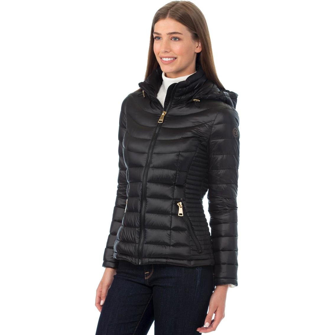 Calvin Klein Packable Down Hooded Puffer Coat   Jackets   Apparel ... 9e99e4b990