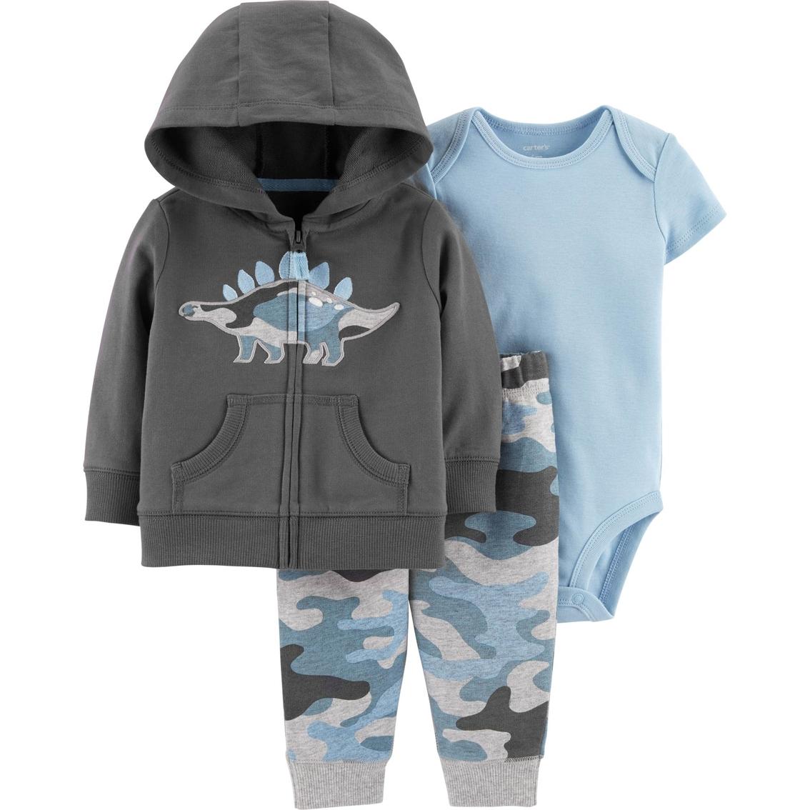 5ac95df94 Carter's Infant Boys Dinosaur Jacket, Bodysuit And Pants 3 Pc. Set ...