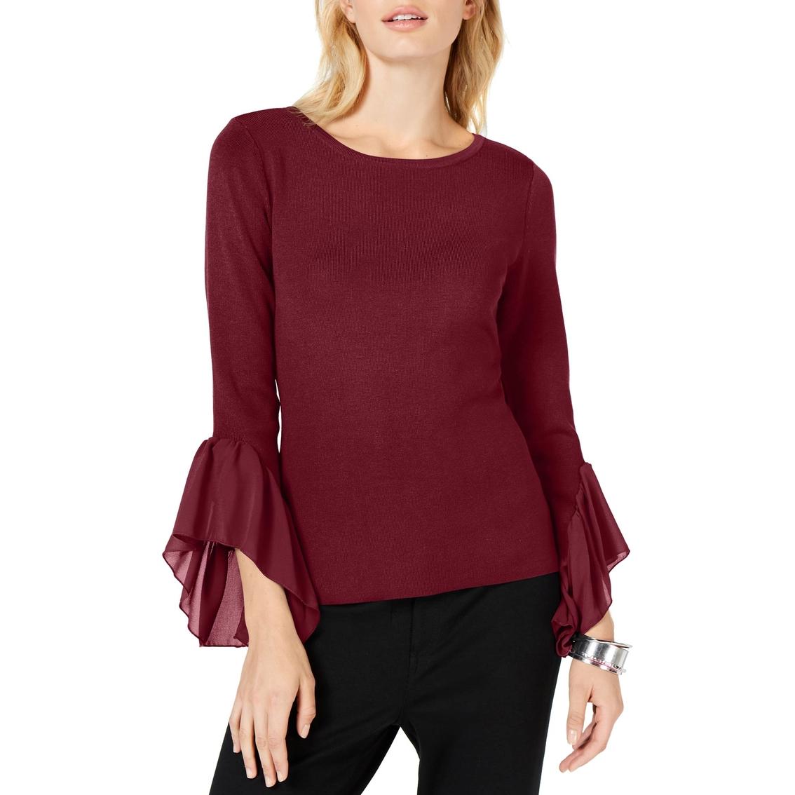 Inc International Concepts Flared Georgette Cuff Sweater