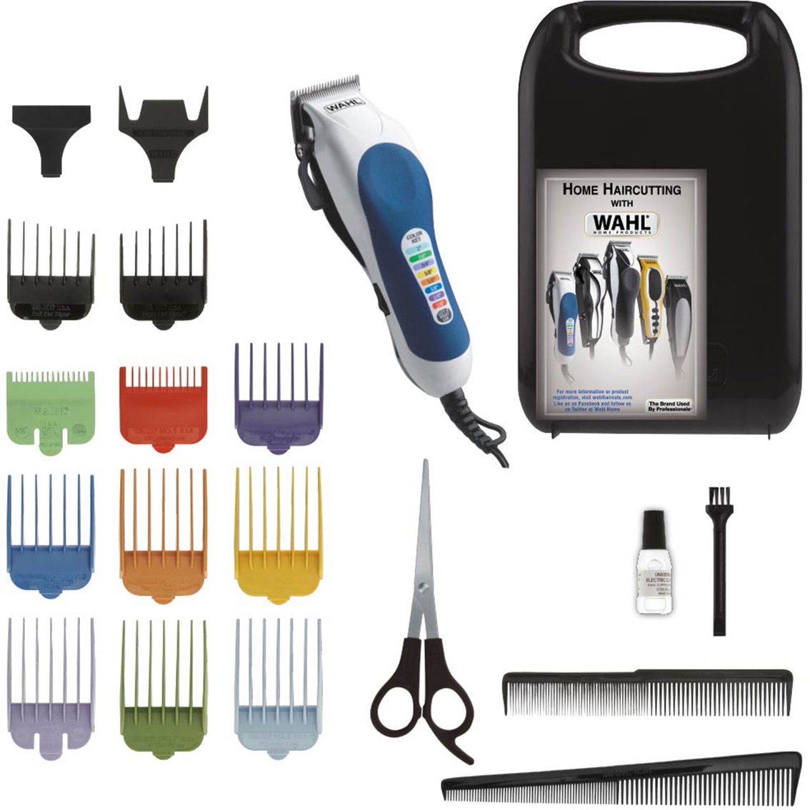 Wahl Color Pro 20 Pc Color Coded Haircutting Kit Hair Cutting Tools Shop The Exchange