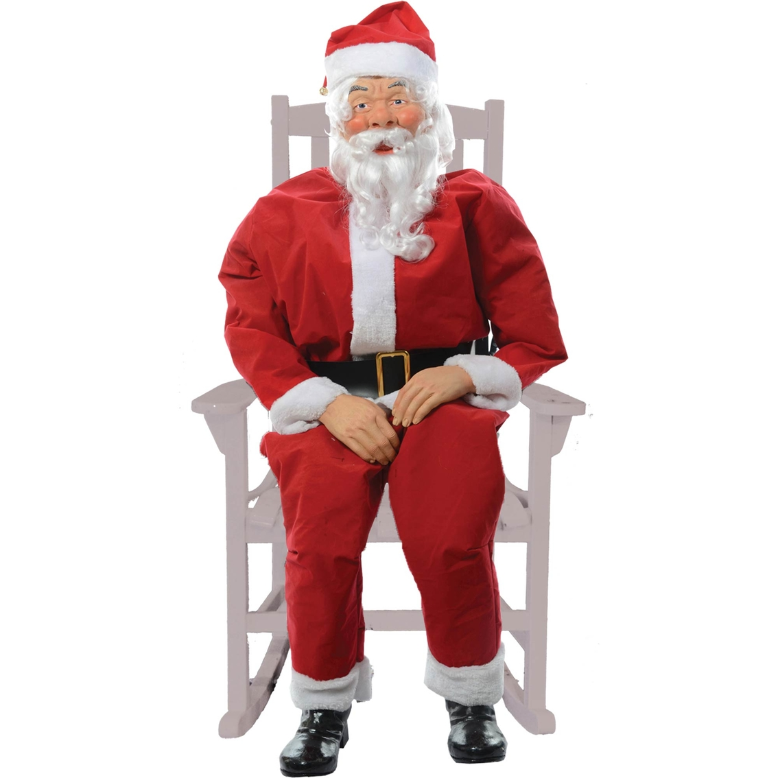 CHRISTMAS ANIMATED LIFE SIZE SANTA INDOOR OUTDOOR PORCH DECORATION W// SENSOR PAD