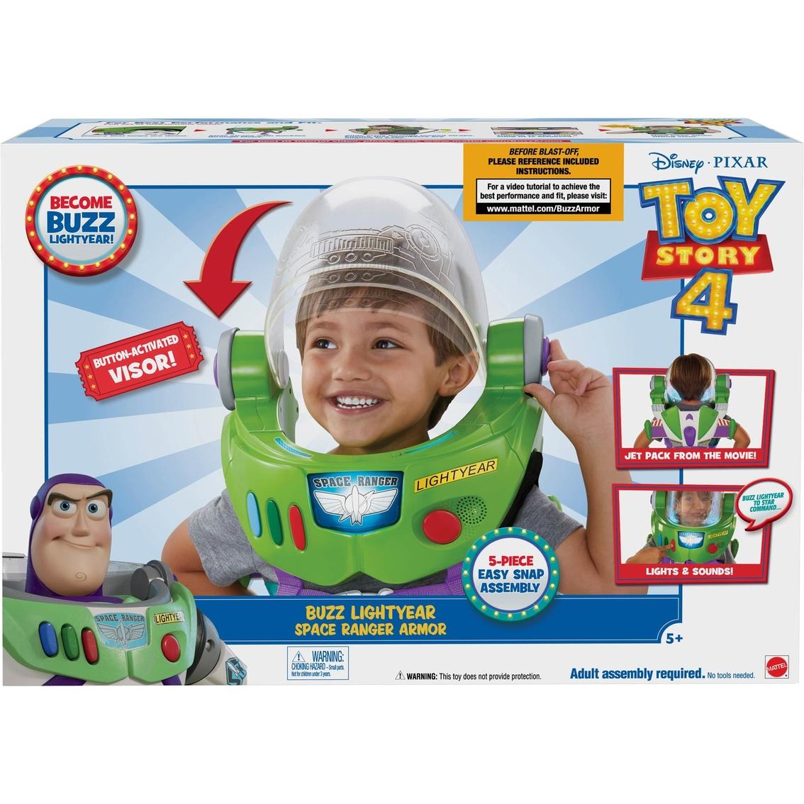 Toy Story 4 Buzz Lightyear Space Ranger Armor Helmet Jet Pack Toy Disney Pixar