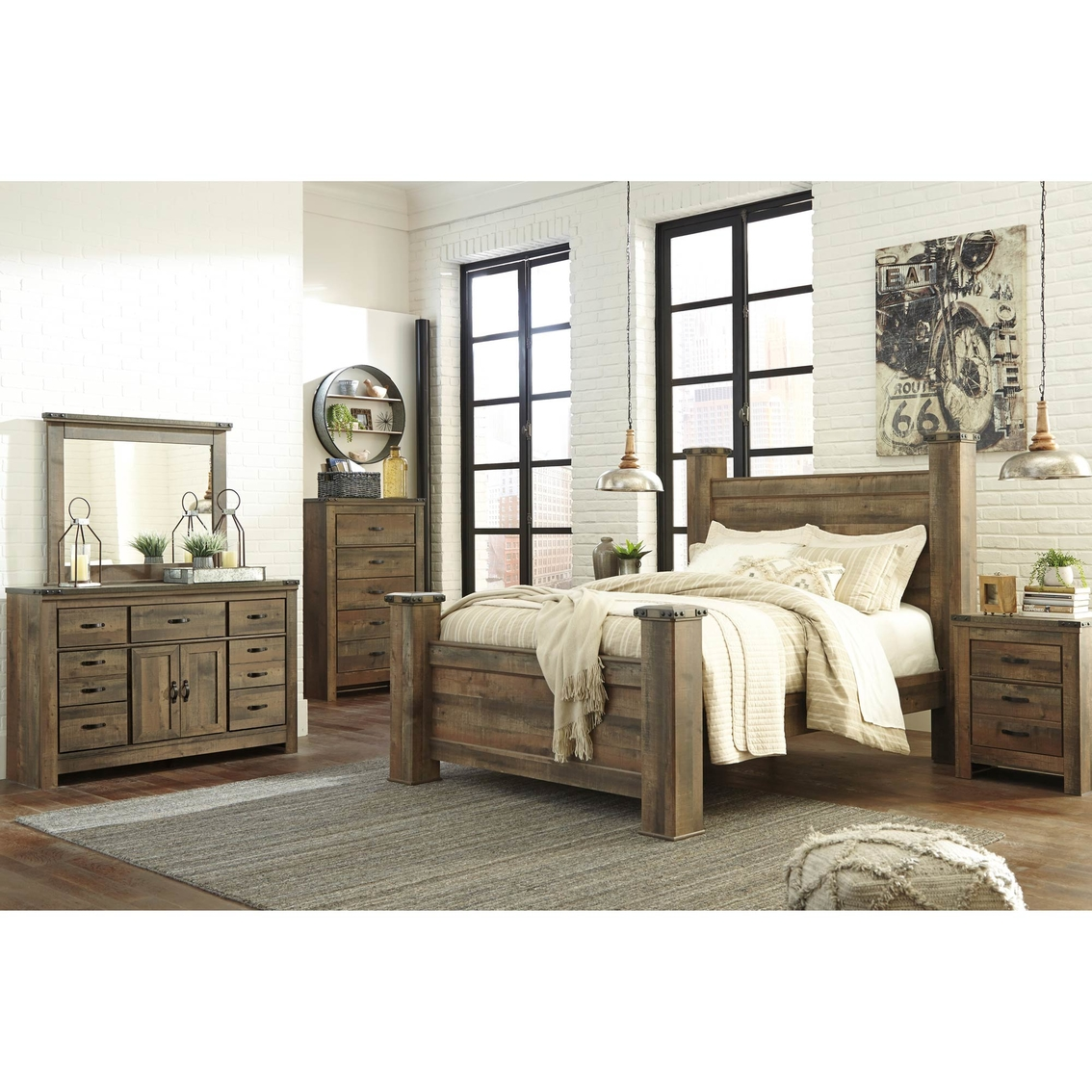 Ashley Trinell Poster Bed 5 Pc. Set | Bedroom Sets | Home ...