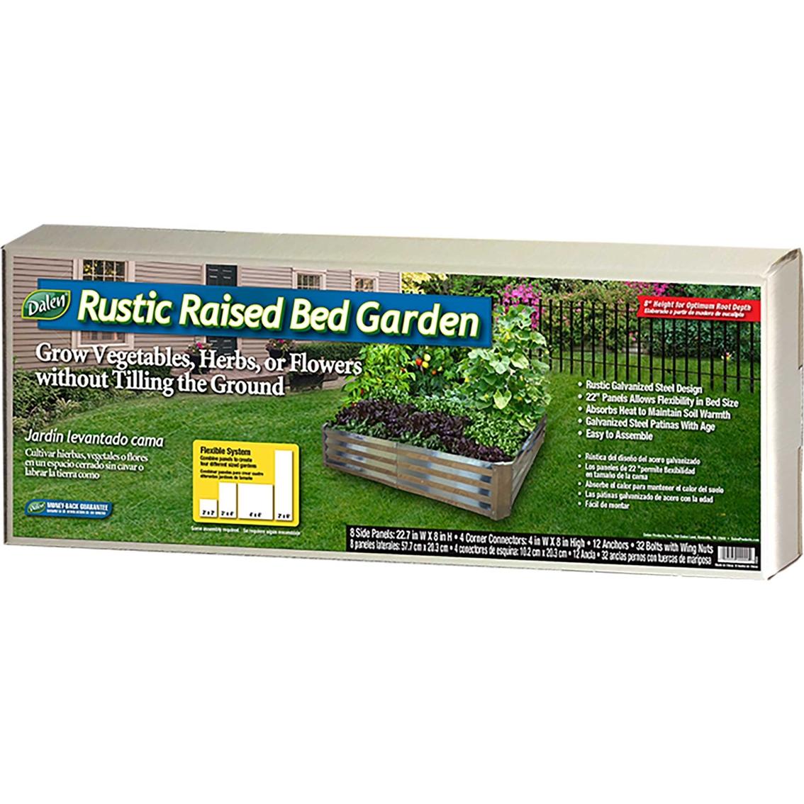 Image of: Gardeneer By Dalen Rustic Raised Garden Bed Ornamental Decor Patio Garden Garage Shop The Exchange