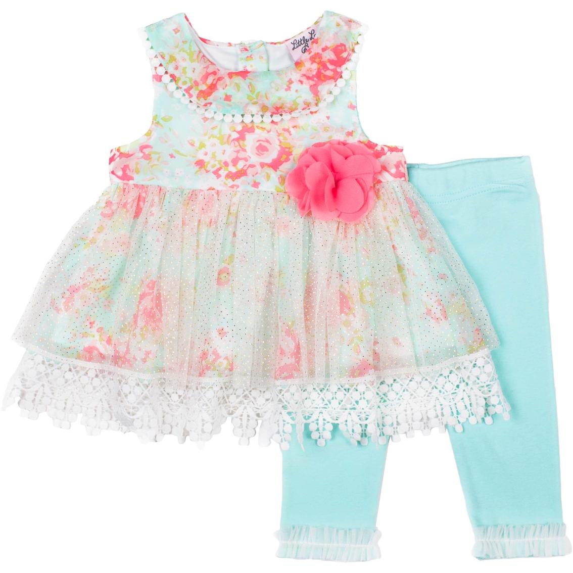 8dc09ca391cf Little Lass Infant Girls 2 Pc Capri Set | Baby Girl 0-24 Months ...