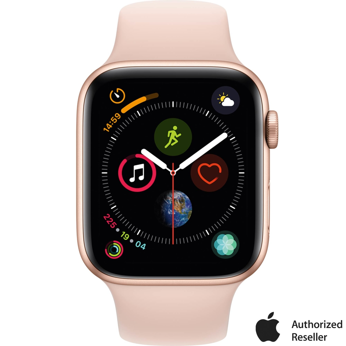 23a6973175f Apple Watch Series 4 GPS Gold Aluminum Case with Pink Sand Sport Band