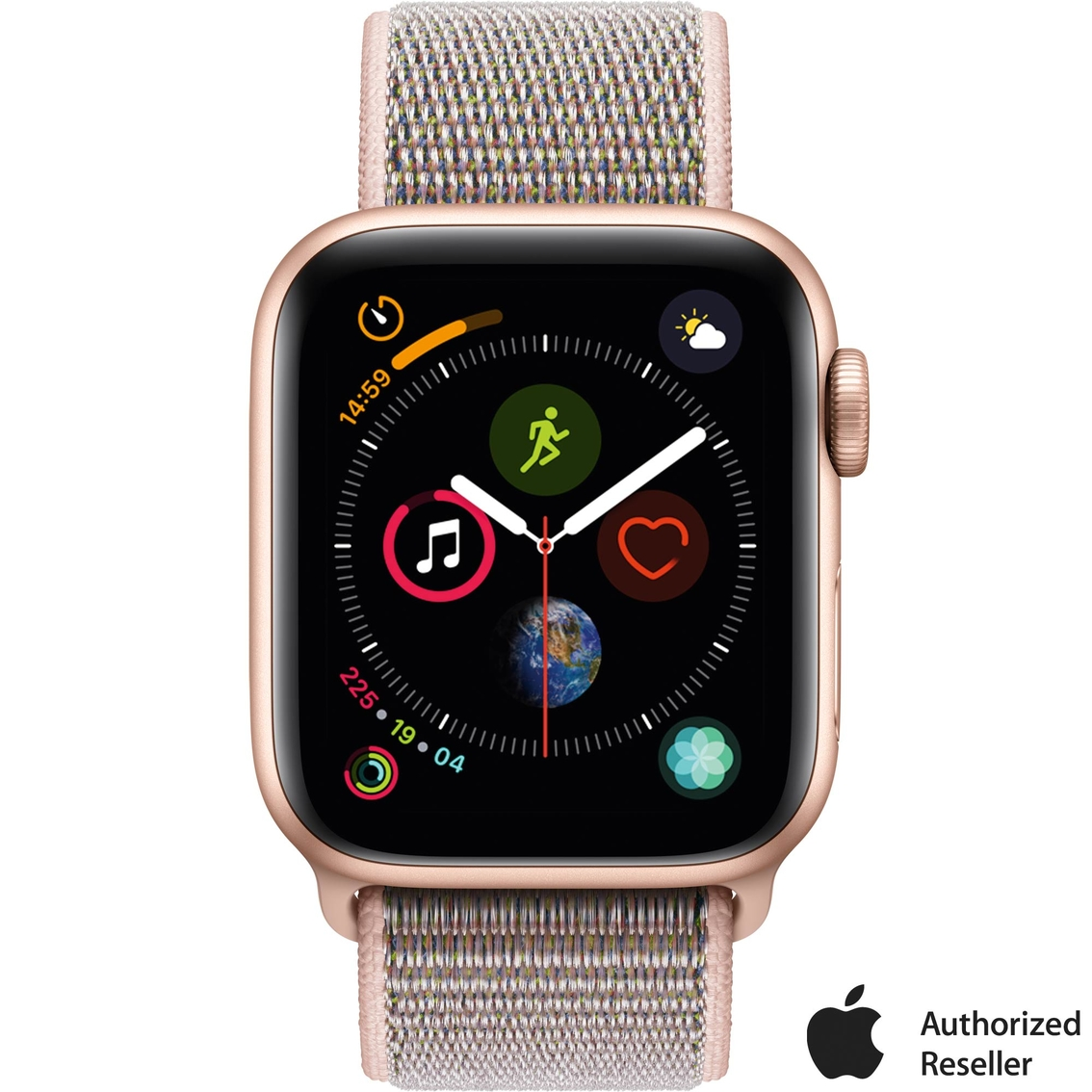 on sale 2d7c1 28844 Apple Watch Series 4 Gps + Cellular Gold Aluminum Case With Pink ...