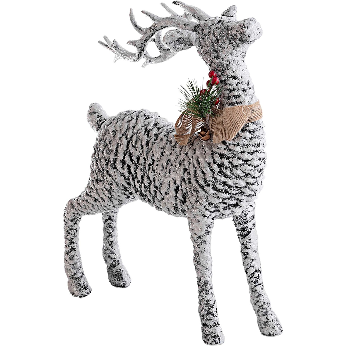 Alpine Pinecone Reindeer Decoration