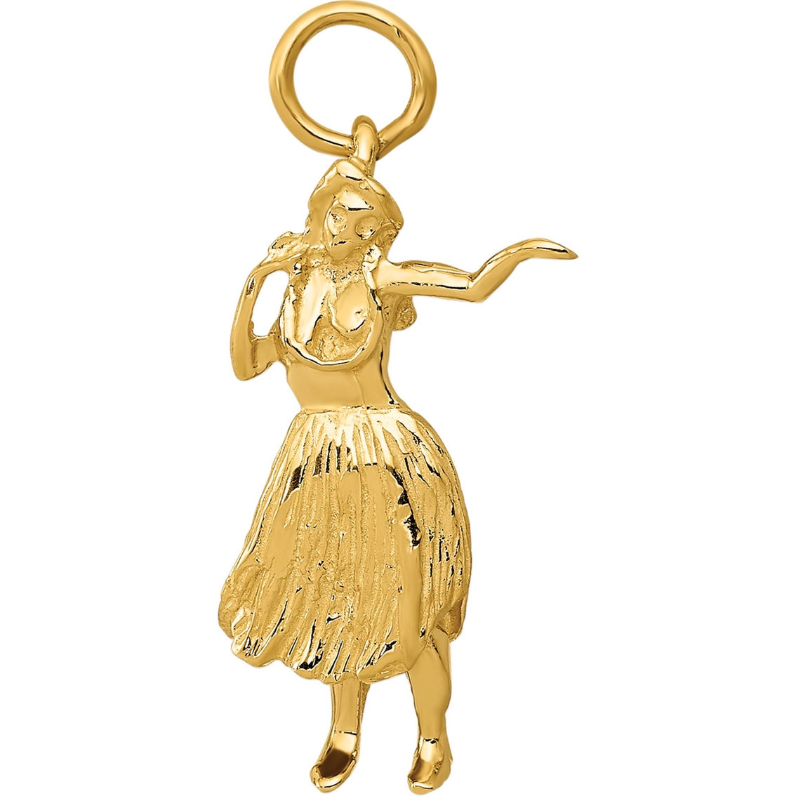14k Yellow Gold Polished Dancer Charm