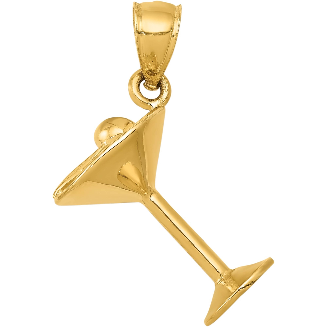14k Yellow Gold Glasses Charm Pendant