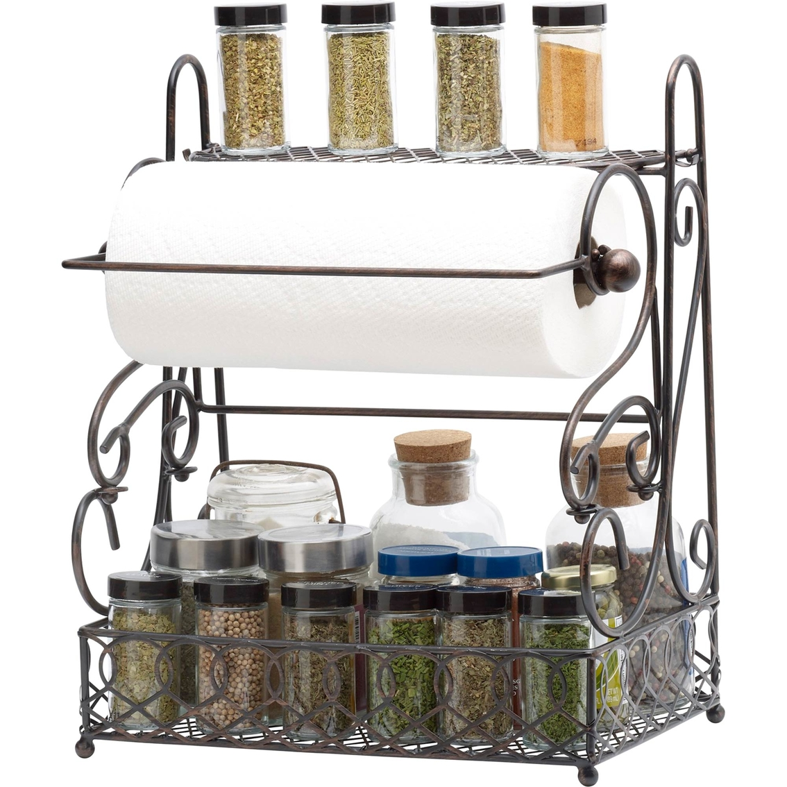 Mikasa Gourmet Basics Wire Scroll Basket With Removable Paper Towel Holder Countertop Wall Organization Household Shop The Exchange