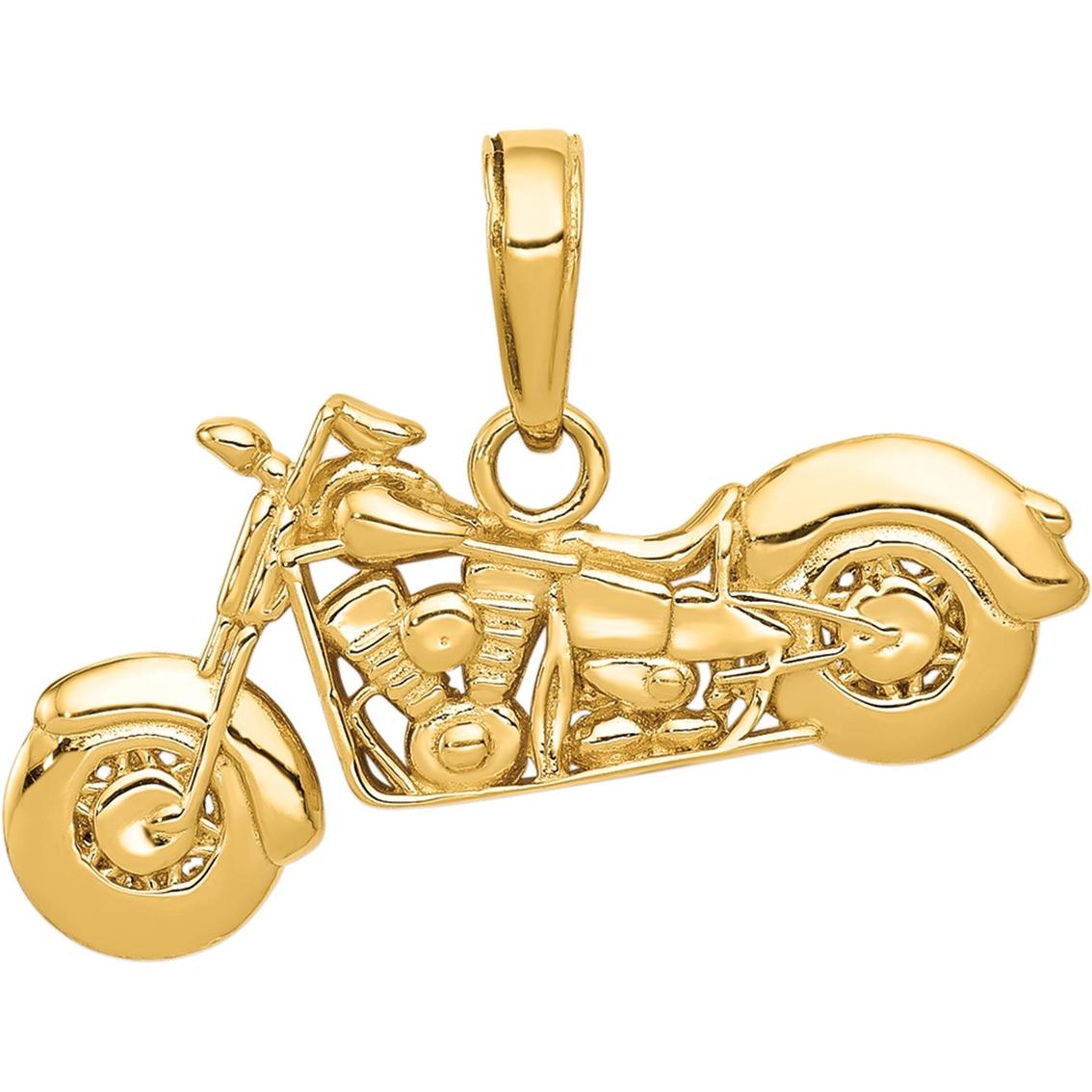 14k Yellow Gold Polished Little Boy Textured Back Flat Charm Pendant